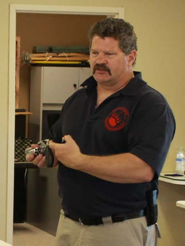 Chris Bearly teaches Northern Colorado CCW classes